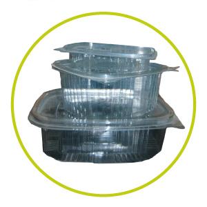 Tarrinas de plástico transparente