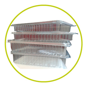 Tarrinas de plástico para microondas